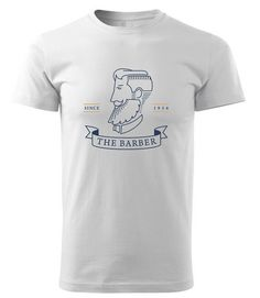 Oryginal Men's t-shirt with a BARBER SHOP MASTER and gift free