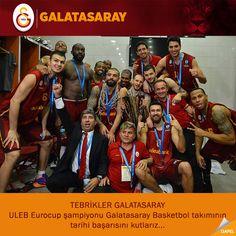 TEBRİKLER GALATASARAY ULEB Eurocup Şampiyonu Galatasaray Basketbol takımının tarihi başarısını kutlarız... #Qapel #eurocup