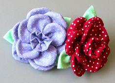 Flor em tecido com 11 petulas Passo a Passo - Fabric flower tutorial                                                                                                                                                                                 Mais