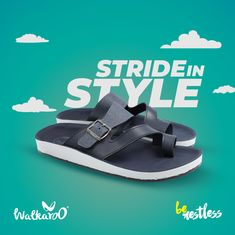 Stride in style with comfy footwear range from Walkaroo!  #Walkaroo #BeRestless #Slippers Leather Slippers For Men, Best Slippers, Men Casual, Range, Footwear, Comfy, Sandals, Shopping, Shoes