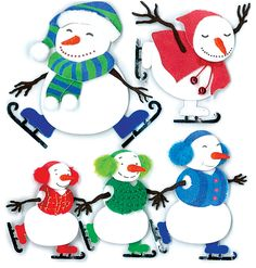 EK Success - Jolee's Boutique - 3 Dimensional Stickers - Ice Skating - Snowmen at Scrapbook.com