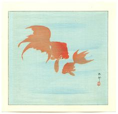 Ohara Koson: Two Goldfish - Early 20th century