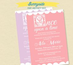 Once Upon a Time Fairy Tale Baby Shower Invitation with Bookplate