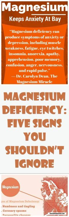 MAGNESIUM DEFICIENCY: FIVE SIGNS YOU SHOULDN'T IGNORE