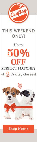 Craftsy Sale. Up to 50 % off.