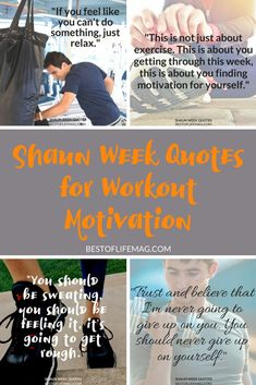Shaun Week quotes for workout motivation will have to ready to go, pushing yourself as hard as possible, and seeing results in no time! Beachbody Workouts | Shaun T | Motivational Quotes | Quotes for Working Out | Shaun Week Workout | Weight Loss Tips