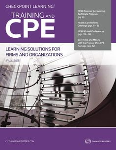 Checkpoint Learning Fall Catalog for Learning Administrators and Decision-Makers. This catalog focuses on our group-wide training solutions - take a look at how affordable a custom learning plan can be. Notable in this issue: Forensic Accounting Certificate Program; Virtual Conferences; Premier Plus CPE Package and more! PDF download. #CPE #Tax #Accounting #CPA