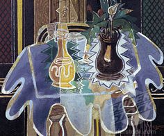 The Blue Tablecloth by Georges Braque, 1938