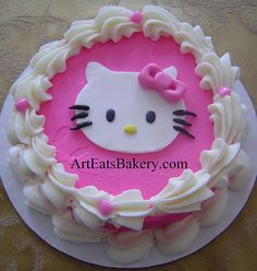 Pink and white butter cream girl's Hello Kitty