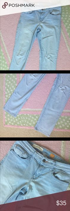 Pilcro Light Wash Stet Skinny Jeans Excellent Used Condition.  Smoke free home.  Awesome light wash jeans that are on the softer side. Anthropologie Jeans Skinny