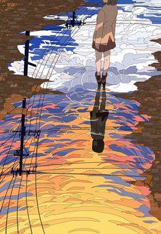 Wallpaper Animes, Anime Scenery Wallpaper, Animes Wallpapers, Art Pop, Inspiration Art, Art Inspo, Aesthetic Art, Aesthetic Anime, Japon Illustration