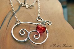 Abstract Heart - Jewelry Making Daily
