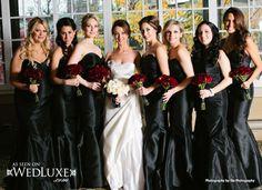 WedLuxe: Black Bridesmaid Dresses by Lazaro