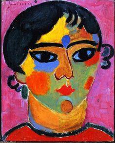 Neapolitan girl, 1916 / Alexej von Jawlensky