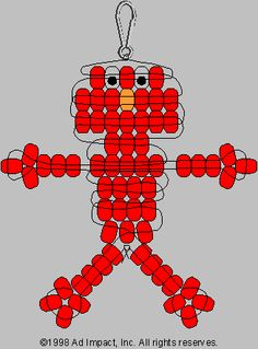Red Guy Pony Bead Pattern