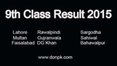 Check Annual Online 9th Class Result 2015