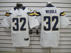 Nike Elite #32 Weddle White San Diego Chargers Jersey