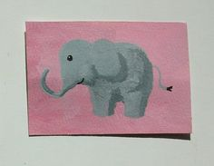 The Pink Elephant 54 ARTIST TRADING CARDS 2.5 x by MikeKrausArt