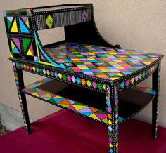 We come across these old tables all the time. What an easy way to make them fit in any decor