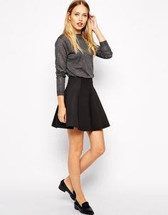 Warehouse Skater Scuba Skirt color: black size: 2 $60.94