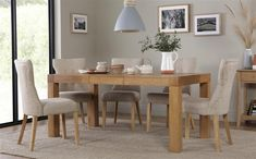 Cambridge Oak Extending Dining Table with 4 Bewley Ivory Chairs for only £599.99 at Furniture Choice. Free standard delivery & finance options available.