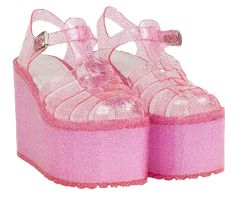 Unif pink jelly platform sandal ISO I am looking for these shoes in size ISO = In Search Of ✨accepting reasonable offers✨ Keywords: Dollskill Yru Goth Kawaii Raver Vintage Designer Cute Gothic Pastel goth EUC NWT NWOT UNIF Shoes Funky Shoes, Cute Shoes, Me Too Shoes, Jelly Shoes, Jelly Sandals, Aesthetic Shoes, Pink Aesthetic, Yellow Shoes Womens, Kawaii Shoes