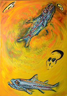 Il ciclo della vita,,,oil on canvas