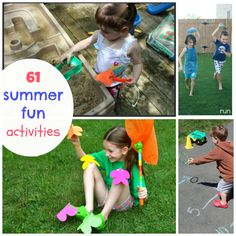 61 Warm Weather Activities, Crafts, and Games for Kids!