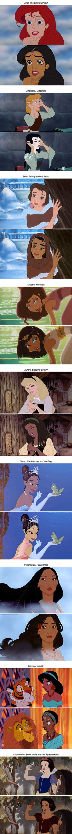 If Disney princesses were from different countries Belle, Megara, tiana, and jasmine are my faves.