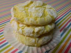1 box (18.25 ounces) lemon cake mix 1 large egg zest and juice from 1 lemon 1 (8 ounce) container Cool Whip, thawed about 3/4 cup powdered sugar Preheat oven to 350 degrees F. In a large bowl, combine dry cake mix, egg, lemon juice, and zest. Mixture will be crumbly. Fold in the Cool Whip until well combined. Batter sticky; refrigerate for 1 hour. Scoop batter by spoonfuls in powdered sugar. Place on a sheet lined w/parchment paper. Bake for 8 - 10 minutes until lightly browned.