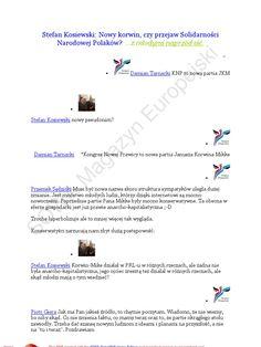 I'm reading Stefan Kosiewski 20110613 Nowy korwin, czy przejaw Solidarności Narodowej Polaków ...z młodymi naprzod iść on Scribd http://wp.me/p7kyF-Da Takich lekarzy nam potrzeba w kraju!