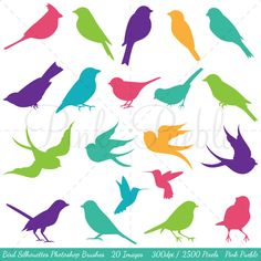 Bird Silhouettes Photoshop Brushes Bird Photoshop by PinkPueblo