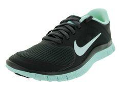 buy popular cdec8 6a021 Nike Women s Free 4.0 V3 Dark Charcoal Teal Tint Running Shoes 5.5 Women US
