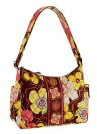Vera Bradley. Not sure of the size, but would make a cute diaper bag