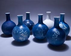 Sun print vases: I loved the sun print fabric you could get when I was a kid, and I love these vases