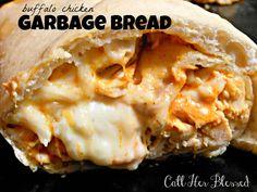 Buffalo Chicken Garbage Bread