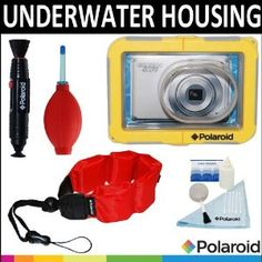 Polaroid Dive-Rated Waterproof Camera Housing + Polaroid Floating Wrist Strap + Polaroid 5 Piece Camera Cleaning Kit + Polaroid Lenspen Lens Cleaner + Polaroid Super Blower For The Canon Powershot A4000 IS, A3400, A3300, A3200, A3100, A3000, A2400, A2300, A2200, A1200, A1100, A800, A495, A490, ELPH 530 HS, 520 HS, 510 HS, 500 HS, 320 HS, 310 HS, 300 HS, 100 HS, 110 HS, SD4000, SD3500, SD1400, SD1300, S95, SD940, SD960, SD970, SD980, SD1200, SD780, S100 Digital Cameras