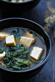 Very simple soup with Spinach and Tofu. Addition of Korean Chili paste gave bit of heat to the lite broth.