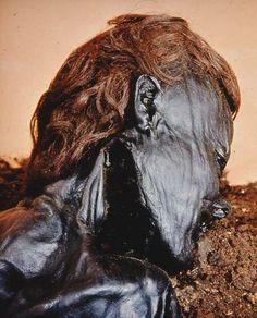 Red haired Grauballe Man, celtic bog body