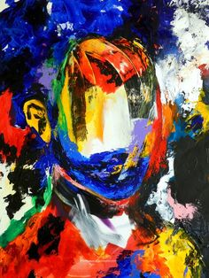 Sana Jamlaney Sans Titre 1  Acrylic on Canvas  36x40 in