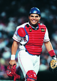 Pudge Rodriguez - A Rangers Hall of Fame Inductee in 2013.