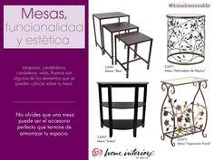 El uso de las mesas para tu decoración aporta funcionalidad y estética. Dependiendo de lo que busques para tus espacios, las mesas pueden ser el complemento perfecto.