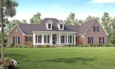 House Plan 56928 | Colonial Country Southern Traditional Plan with 3194 Sq. Ft., 4 Bedrooms, 4 Bathrooms, 3 Car Garage