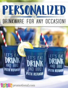 Create your own personalized #drinkware for any occasion!  Our variety of cup styles and sizes can all be custom printed with your logo, message or event information!  Low prices, free artwork proof and quick turn around time!  Add matching lids or straws to complete your look!  Use coupon code PINNER10 and receive 10% off your drinkware order! Sale applies to piece price only, not valid with other coupon codes and expires 12.31.16!