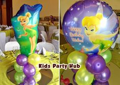 tinkerbell table centerpiece for birthday | Party Styling * Dessert and Candy Buffet * Party Services