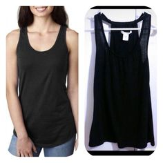 •Black tank top in great condition• Cute but simple tank top. Made from 65% polyester, 35% rayon. Charlotte Russe Tops Tank Tops