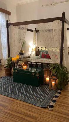 Room Design Bedroom, Bedroom Furniture Design, Home Room Design, Home Decor Furniture, Home Bedroom, Home Interior Design, Diy Bedroom Decor, India Home Decor, Ethnic Home Decor