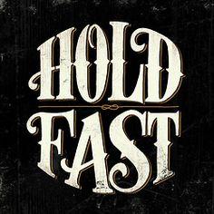 hold fast | handlettering by jason vandenberg