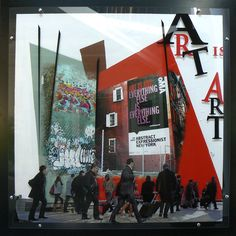 Toile et plexi : NY Art is Art 120x120cm (Et Caetera)