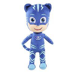 PJ Masks - Peluche Gatuno Gran peluche de Gatuno, de la serie PJ Masks: Héroes en Pijama, Gatuno con su color de traje azul, es un peluche suave y blandito